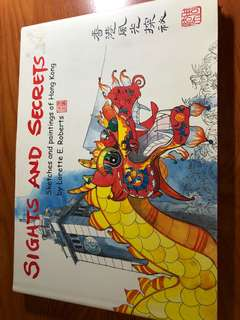 Fiction Picture Sights Old Hong Kong Asia Sketches Rare Book Collection Travel Author Lorette Roberts