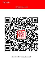 Scan the QR code to follow me on Carousel