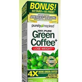 Pure Green Coffee Bean Non stimulant Weight Loss Supplement