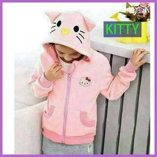 ☔ SALE!! Kids Hello Kitty Hoodie Jacket 👕  Freesize: Fits 3 - 6 years old