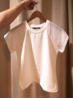 Forme White Minimalist Casual Shirt Blouse