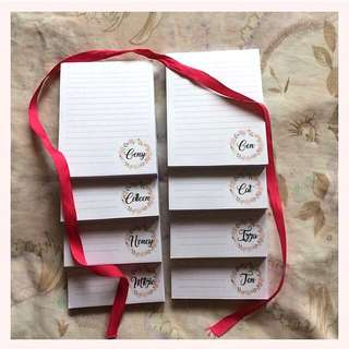 Pink Wreath Notepad