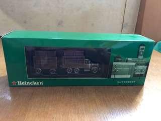 喜力啤酒金屬貨櫃卡車一架-珍藏版