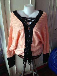 Peach Knitted Jacket