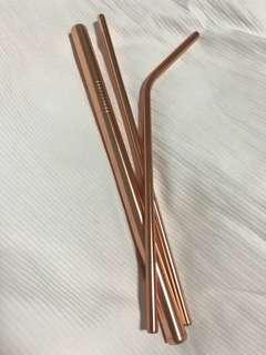 🚚 Metal straws - set of 3
