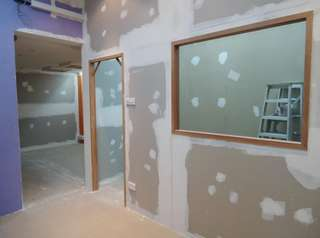 Gypsum board wall partition