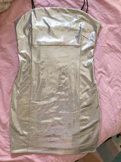 F21 Silver Party Dress