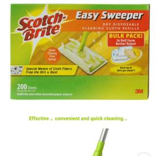 3M Scotch Brite easy sweeper Dry Disposable Refill wiper clean magiclean