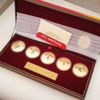 Olympic Mascots Gilt Medal Collection 奧運吉祥物鍍金紀念章套裝 限量發行