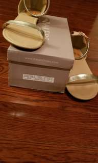 Sexy womens sandals, beige/gold
