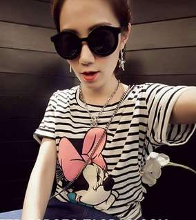 Minnie Mouse Stripes Shirt Tshirt