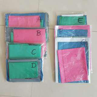 mixed sizes/ colours polymailer sets
