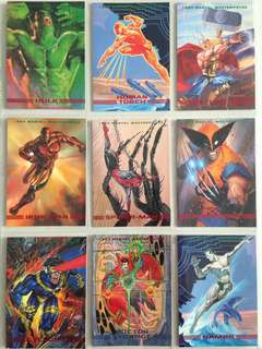 Full Set 1993 Marvel Masterpieces (90 cards) + free 9-pocket pages!