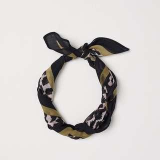 正品 H&M 豹紋領巾/髮帶/頭巾