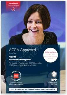 ACCA F5 textbook and revision kit 2018-2019