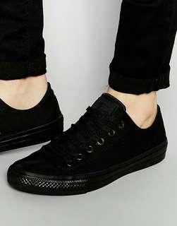 Sepatu converse full black original banyak ukuran