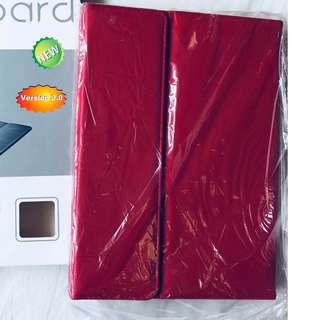Keyboard Protection with Slime Leather Casing for Tablet. Red Color casing