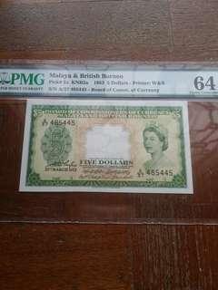 UNC Malaya 1953 $5