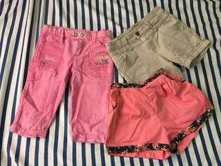 bundled girl's lower garments (preloved)