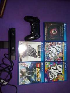 PS 4 controller PS 4 camera and games