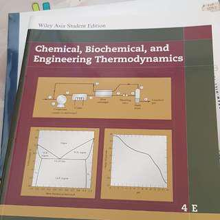 Chemical Biochemical and Engineering Thermodynamics