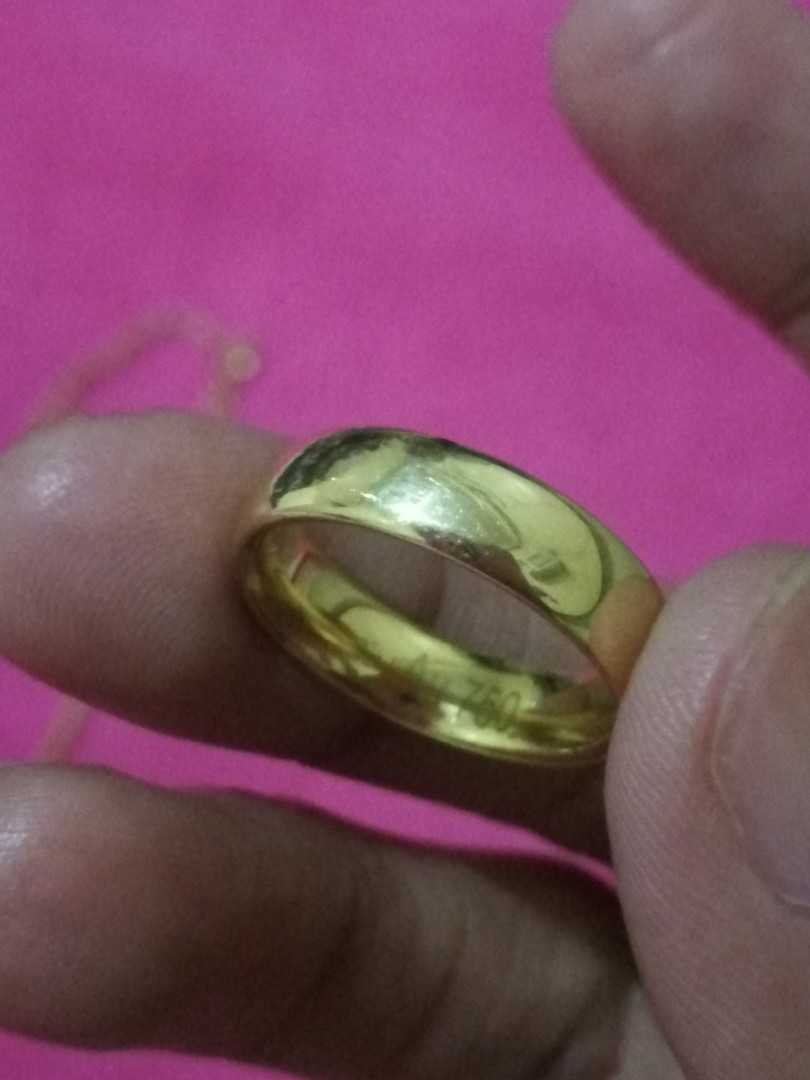 100% Authentic 18K Saudi Gold Engagement Ring and Wedding Ring ...