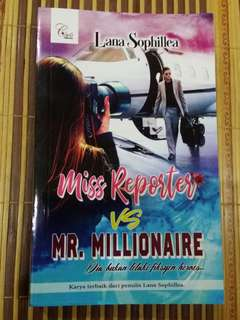 Novel Miss Reporter vs Mr. Millionaire, Lana Sophillea