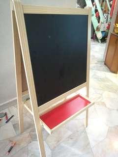 Ikea children easel/drawing board/white board/black board
