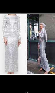 (rent RM30) Zalia Silver Dress