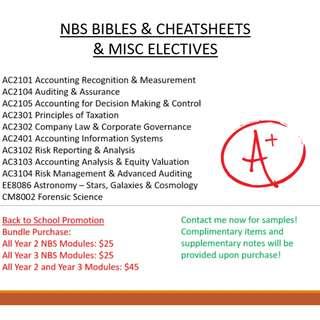 NBS Bibles & Cheatsheets