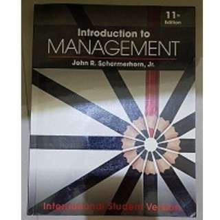 Introduction To Management - 11th Edition International Student Versio
