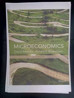 Microeconomics 5th edition (David Besanko & Ronald R. Braeutigam)