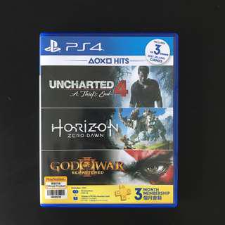 Horizon Zero Dawn & Uncharted 4 PS4 Combo