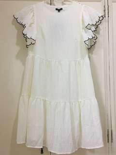 Who What Wear Cream Dress