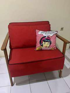 Big Sofa single seat baru 80 X 90
