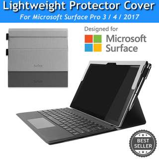 Microsoft Surface Pro 3 4 2017 Slim Cover Sleeve Protector Case Casing Portfolio Bumper