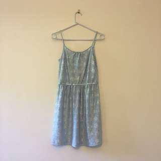 H&M Blue shimmer dress BNWOT