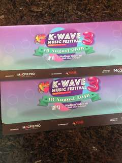 KWAVE 3 MUSIC FESTIVAL TICKET ZONE P(RIGHT)