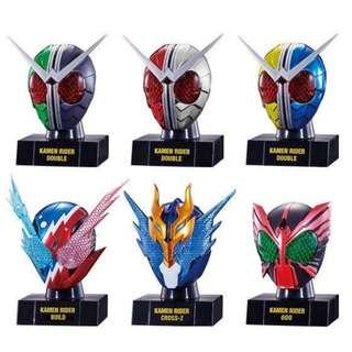 全新 1 set 6 盒 仮面ライダー 仮面之世界 5 05 幪面超人 幪面之世界 頭像 食玩 盒玩 盒蛋 Masked Kamen Rider Head Masker World   21 22 23 24 25 26 double w 000 OOO Build Luna trigger heat metal