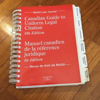 Carswell / Canadian Guide to Uniform Legal Citation