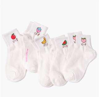 PO Ulzzang harajuku fruit socks