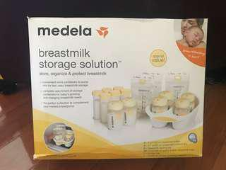 Medela bottles/pump/flanges breastfeeding solution