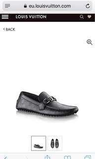 Sepatu LV Loafer Hockenheim Moccasin Size 9,5