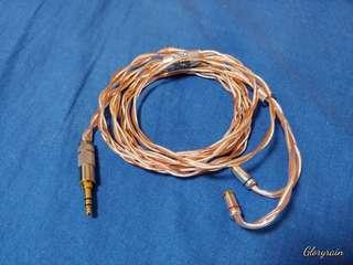 Gloryrain MMCX Luna & Rose Copper/SPC Hybrid IEM upgrade cable
