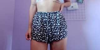 Brandy Melville Floral Flowy Eve Shorts