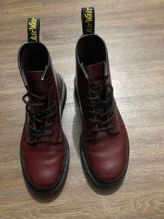 Dr. Martens 101 Boots Cherry Red