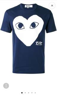 Authentic Comme Des Garcons Play Tee T-shirt Top