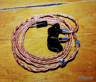 Gloryrain Ariel 8 Wire Copper LITZ 2 Pin IEM upgrade cable
