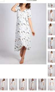 Nee JumpEatCry maternity / nursing dress (white wrap)