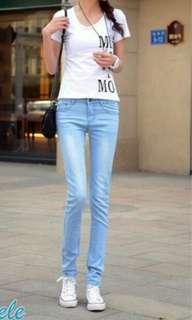 🚚 降!♥淺色激瘦牛仔褲♥